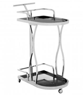 Novo 2 Tier Silver / Wavy Design Trolley