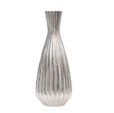 Priya Aluminium Ribbed Tapered Vase Large