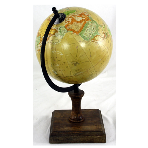Decorative Globe On Wooden Stand