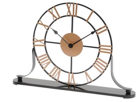 Round Skeletal Mantel Clock