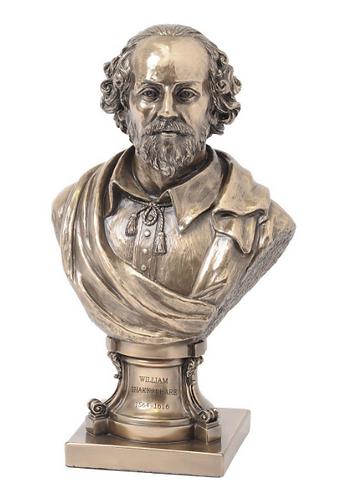 Millbeck Bronze Finish Shakespeare Sculpture