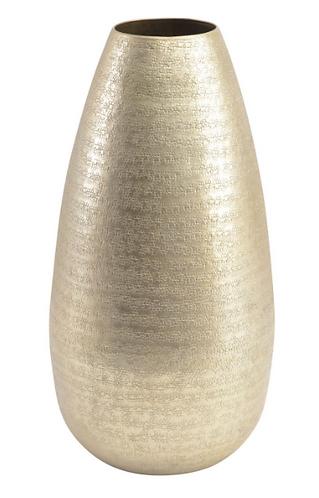 Champagne Textured Aluminium Large Vase