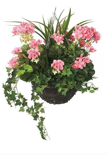Artificial Pink Geranium Display