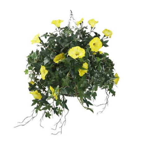 Artificial Yellow Morning Glory Display