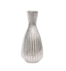 Priya Aluminium Ribbed Tapered Vase Small