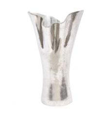Ocean Wave Silver Aluminium Vase