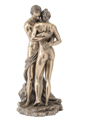 Millbeck Bronze Finish Embracing Couple Sculpture