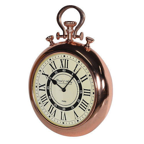 TimeLess Shiny Copper Wall Clock