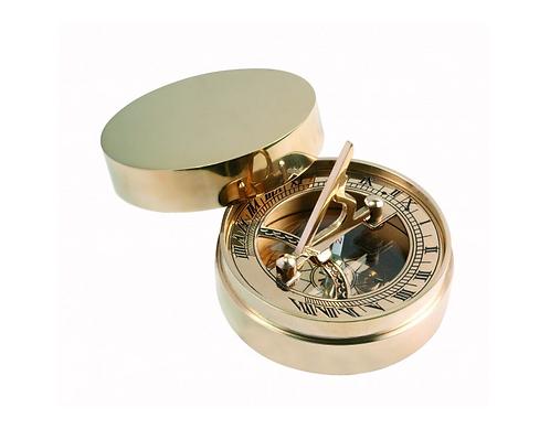Brass Pocket Sundial, 7cm