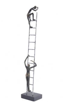 Antique Bronze Ladder Sculpture