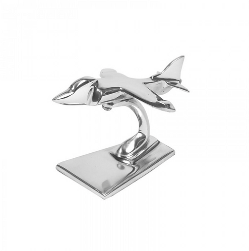 Aluminium Sea Harrier Sculpture