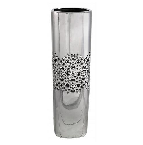 Large Silver Square Vase