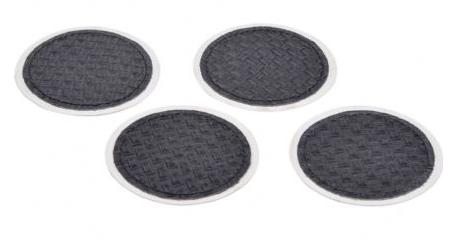Benton Black Leather set of 4 Coasters