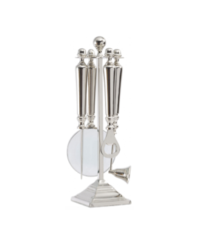 TimeLess Turner Nickel Desk Four Piece Accessory Set