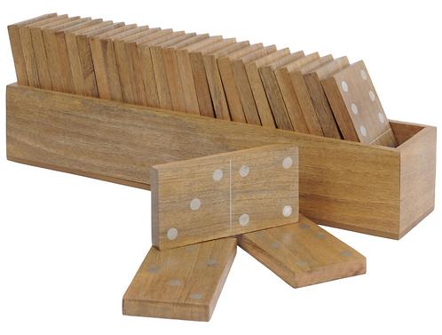 Manning Large Mango Wood Dominoes Set