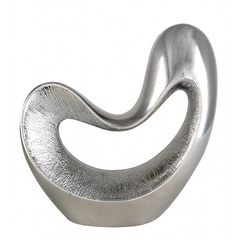 Large Silver Abstract Decoration