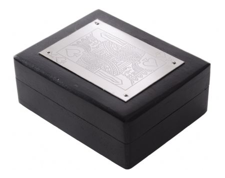 Black and Silver Playing Card box