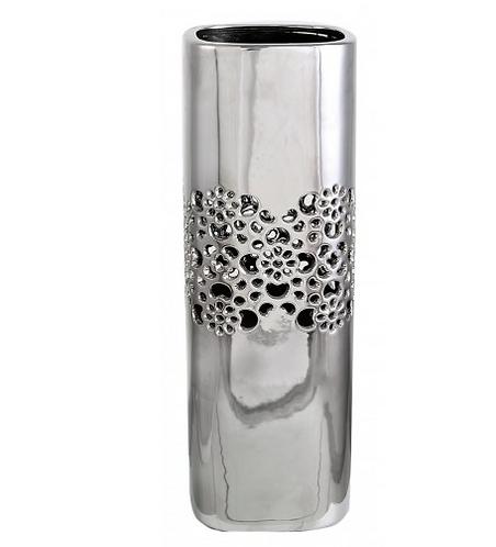 Small Silver Square Vase