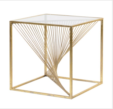 TimeLess Gold Twist Side Table