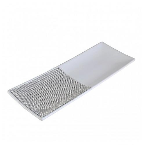 Glitz And White Plate