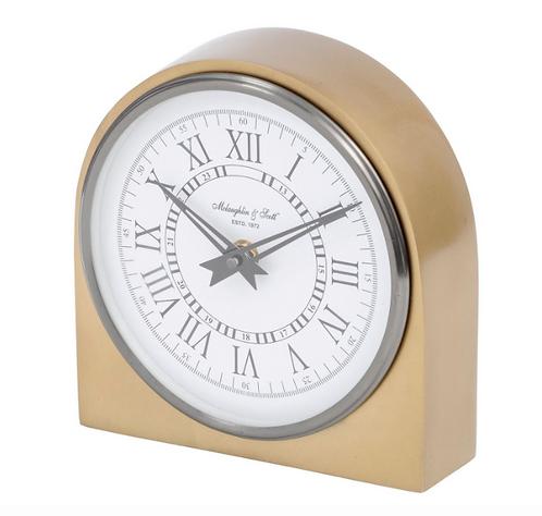 Lexington Arched Brass Table Clock