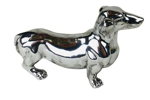 Silver Standing Sausage Dog