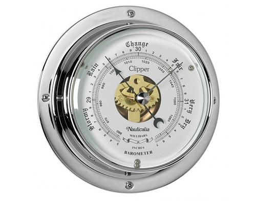 Clipper Barometer Chrome