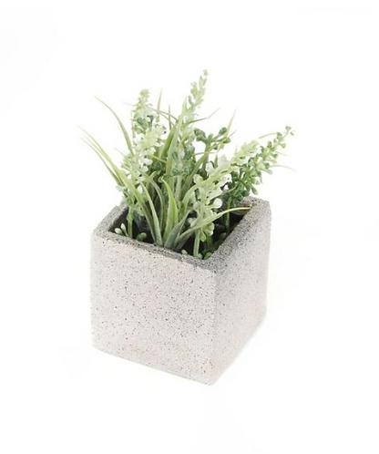 Artificial Miniature White Lavender Plant