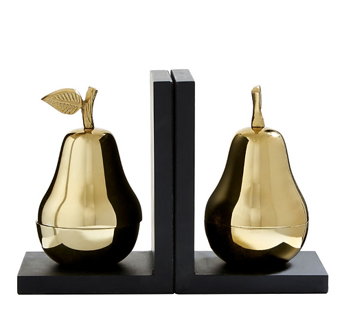 Set Of 2 Pear Bookends