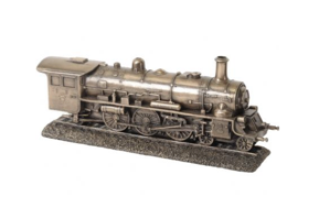 Millbeck Bronze Finish Steam Train Sculpture