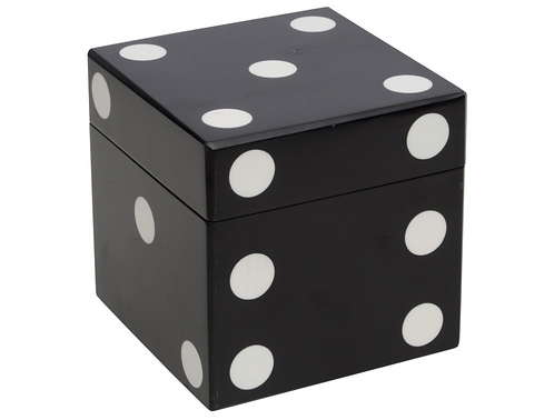 Black And White Dice Cube With 5 Giant Dice