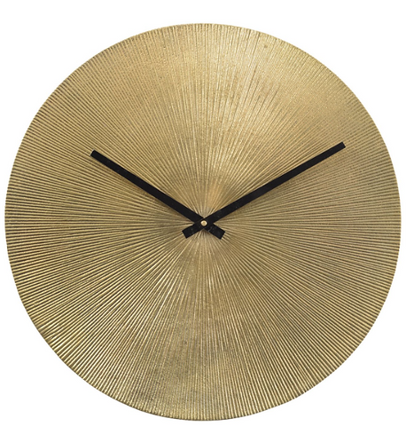 Antique Gold Starburst Aluminium Wall Clock