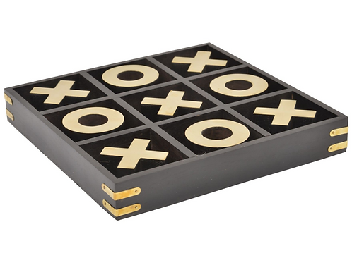 Black And Brass Noughts And Crosses Game