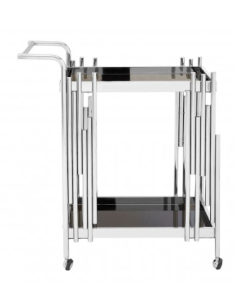 Novo 2 Tier Trolley With Silver Finish Frame