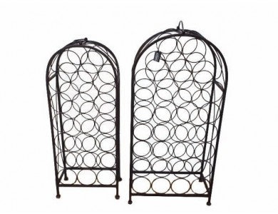 TimeLess Wine Rack Set of two - antique brown
