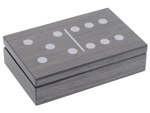 Lismore Grey Gloss Dominoes Box