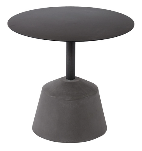 Iron And Concrete Side Table
