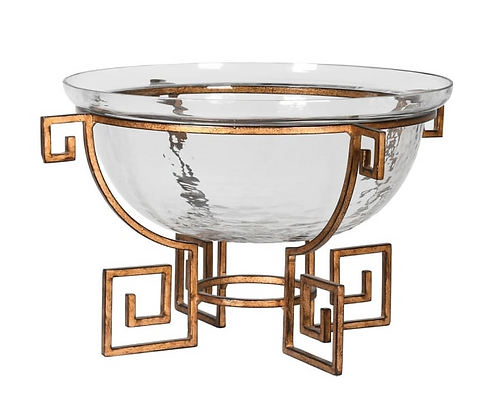 Greek Key Decor Bowl