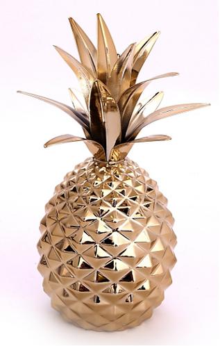 Gold Metal Pineapple Ornament