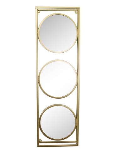 Golden Metal Framed Triple Mirror