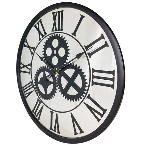 Mirrored Mechanism Clock