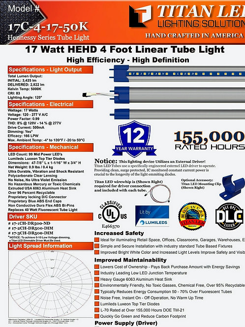 TItan LED 4' T8 Replacement Tube for existing Fixtures