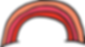 A hand illustrated rainbow, with three shades of pink as the stripes
