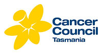Cancer Council Tasmania Logo: Illustrated image of a Daffodil flower in bright yellow