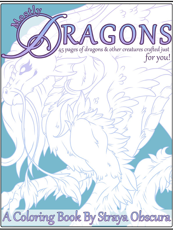45 pages of inked dragons and other creatures for you to print out and color yourself you can also open them up in your favorite digital coloring program - Digital Coloring Book