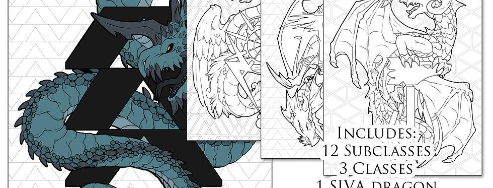 Destiny Class Dragons Coloring Book