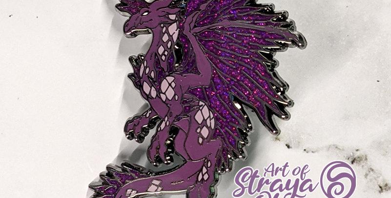 "Crystal Dragon 2"" Enamel Pin"