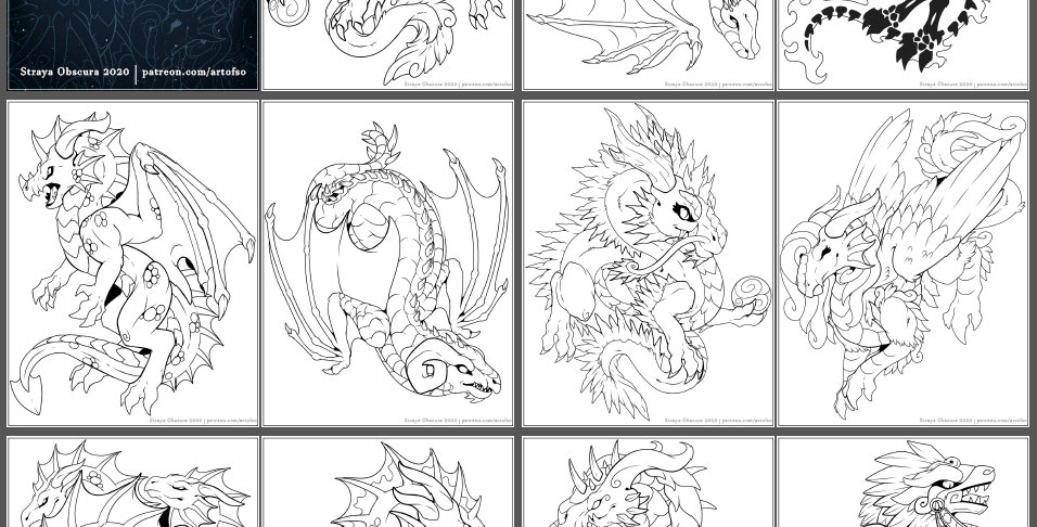 Worldwide Dragons Coloring Book