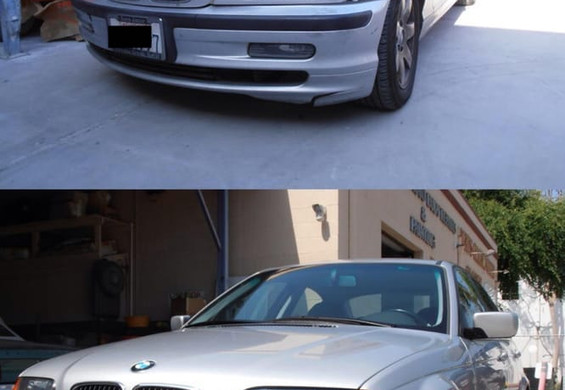 BMW 330i before/after