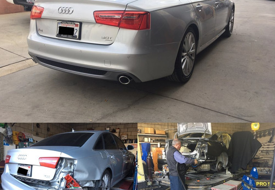 2012 Audi A6 before/during/after